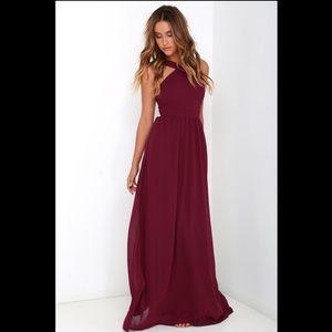Lulu's Air of Romance dress - burgundy, M